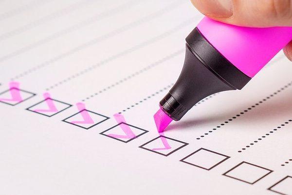 school checklist